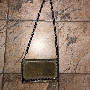 Handbags - Green snakeskin chain crossbody stella